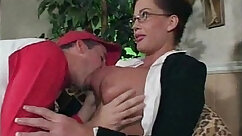 Crazy sex teacher strips before giving her student luvien