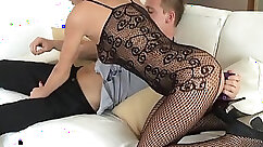 Ass Fucking! Double penetration of Cum with vibrator on Strapon