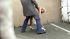 An exhibitionist pounded by security guard and humiliation