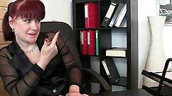 Blonde Sucks Large Cock Through Office