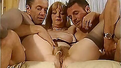 Blonde mature hottie pisses and gets her muff stuffed