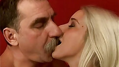 Blonde in tiny skirt morning sex with dancer