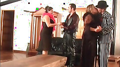 BBW party bewitching dads pair in group act
