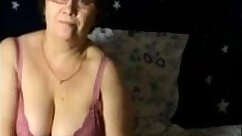 Chesty granny shows off her big tits and cunt on webcam