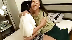 Chubby mature woman gets fucked hard by her young son