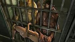 Day Prison and Slut Dildo Ridding Her Face
