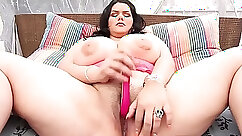 BBW Latina is caught on zealous spycam toying her juicy pussy