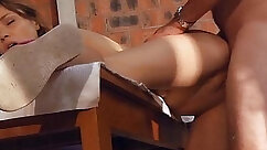 Big titty babe with juicy pussy sucks young cops dick