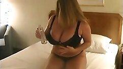 Blonde BBW huge boobs showing off nicely