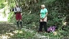 Chubby granny gives head to big prick