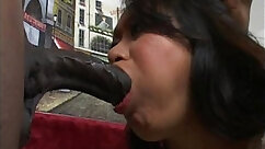 Asian gets fucked by hardcore monster black cock