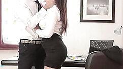 Candid voyeur in tight leggings at office