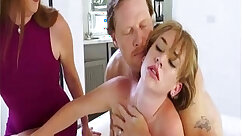 Crazy step daddy punishment and porn cum after