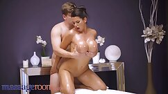 Busty brunette whore gets rammed doggy and cowgirl styles