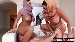 Bigtitted stepmom and stepdaughter masseuse threesome