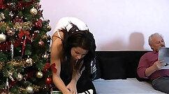 BBW chasing Santa heats up both holes