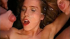 chick Molly Monroe fucked and facialized in orgy