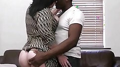 Black girl with fatty skin feet seduces dude with a dick